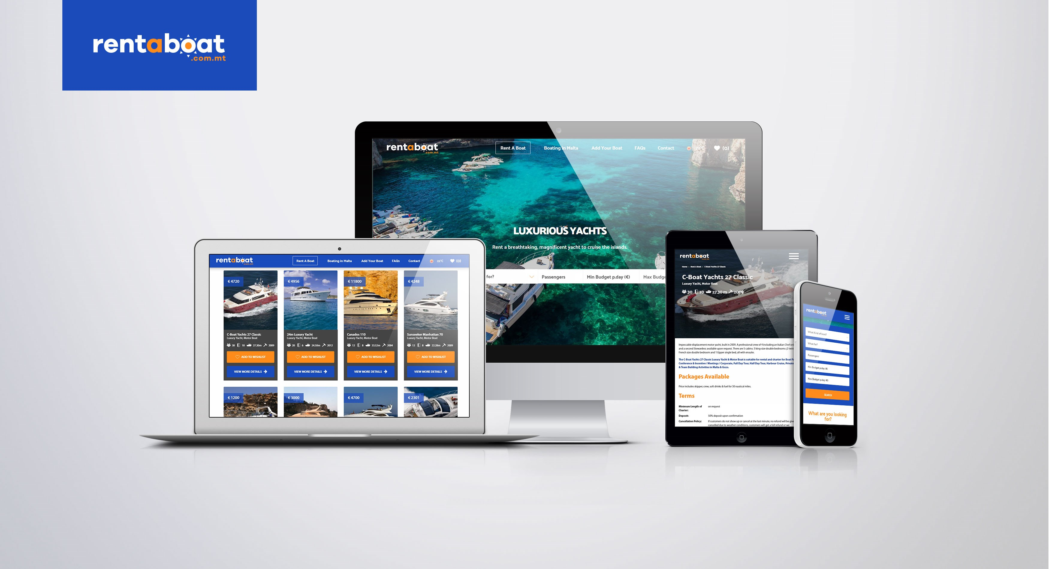 Rent A Boat.com.mt - Web Design & Development / Custom Software Development / E-Commerce & eBusiness / Custom Web Application Development / Support & Maintenance / Web Hosting & Domain Names / Creative, Digital, Social Media & Strategy