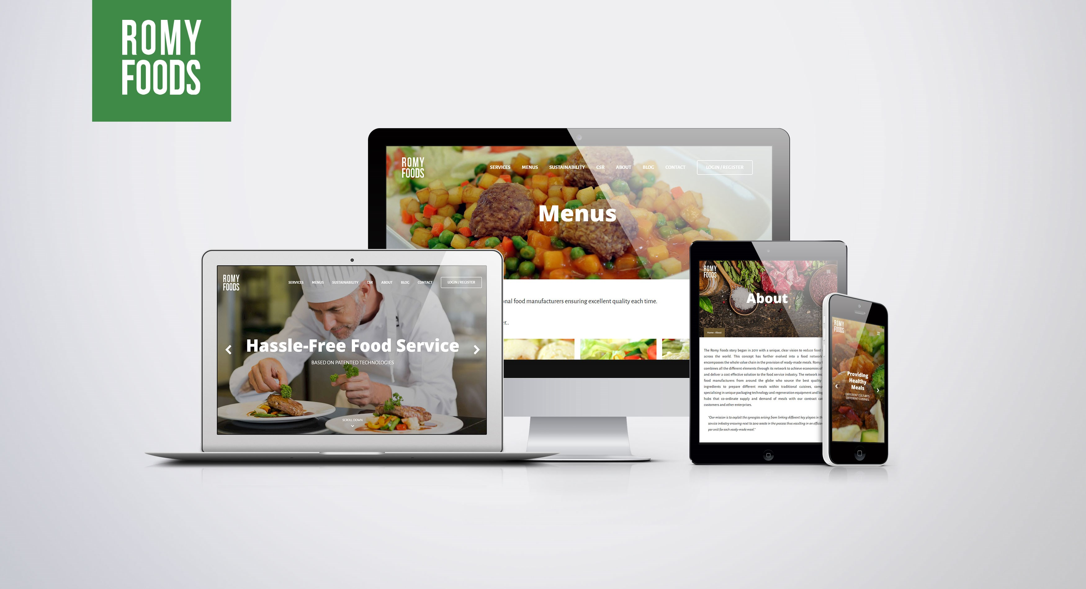 Romy Foods Concept Sites - Support & Maintenance / Web Hosting & Domain Names / Web Design & Development