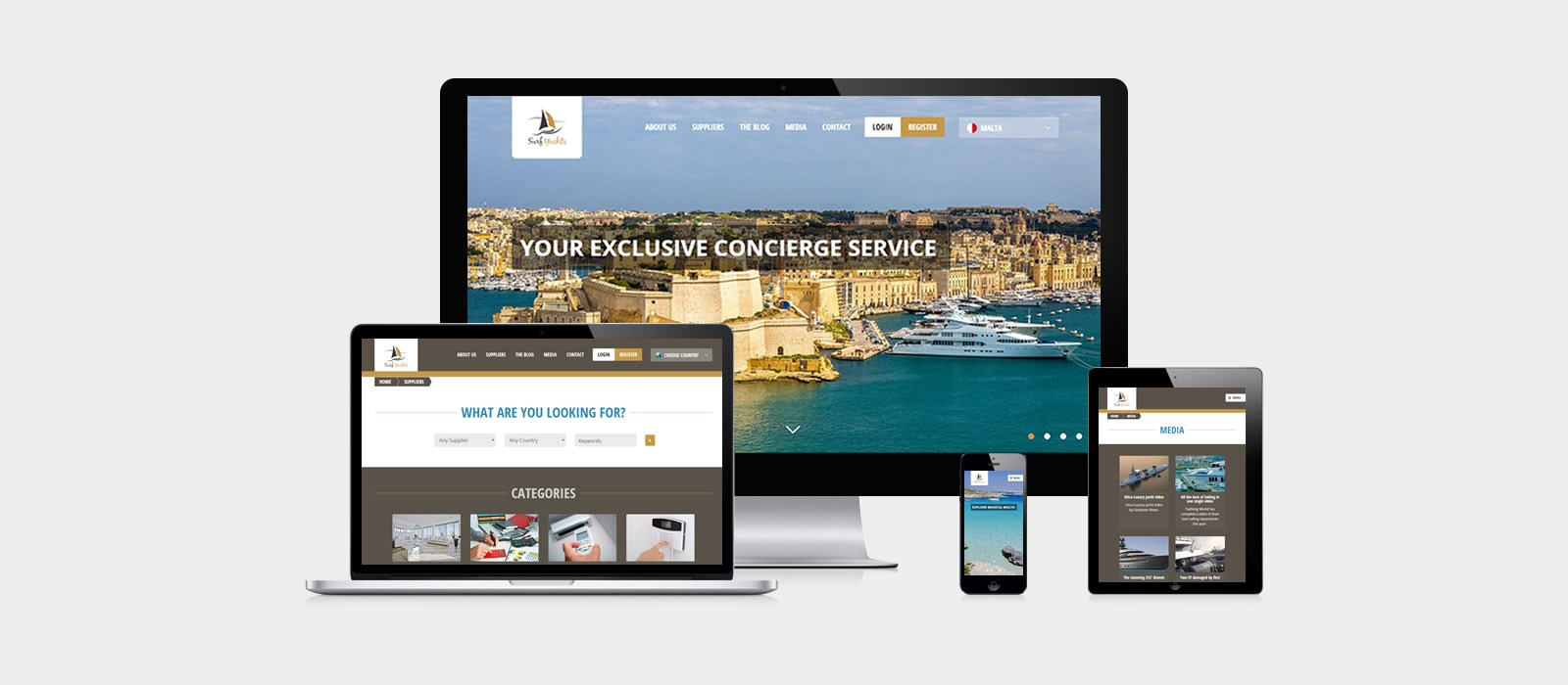 Surf Yachts - Web Design & Development / Web Hosting & Domain Names / E-Commerce