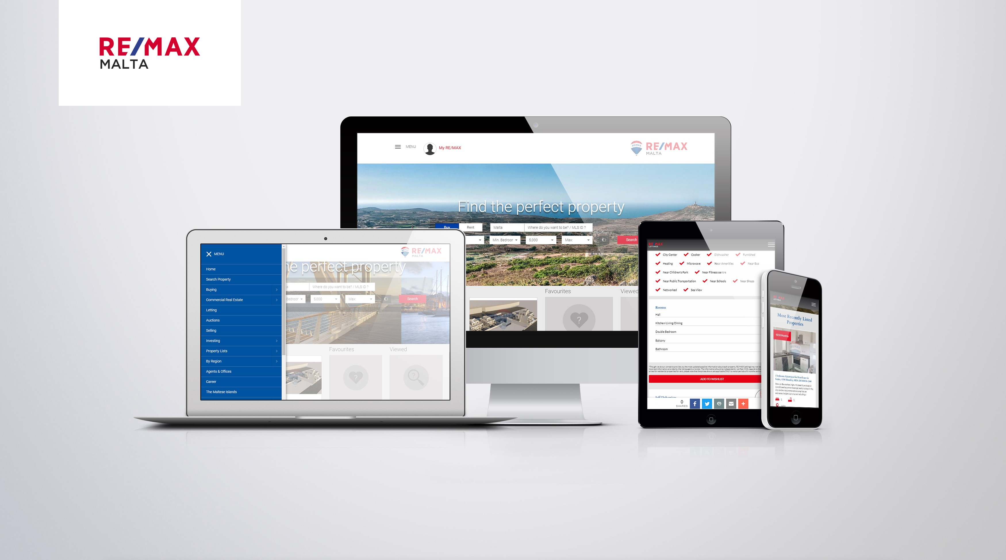 Remax Malta - Web Design & Development / Web Hosting & Domain Names / System Integration & Migration / Custom Web Application Development / Support & Maintenance